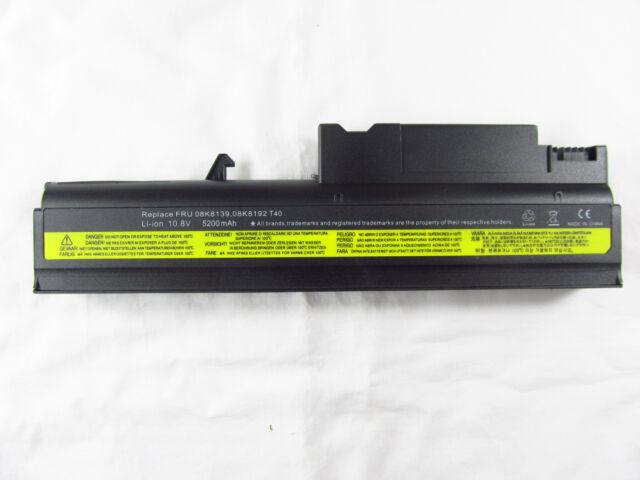 6cell Battery for IBM ThinkPad R50 R50e R51 R51e R52 T40 T41 T42 T43 92P1091 AU