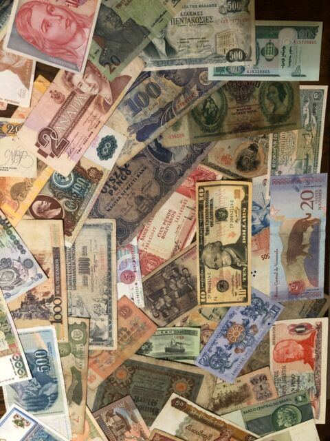 Uncirculated Lot of 20 Different Foreign PAPER MONEY BANKNOTES WORLD CURRENCY