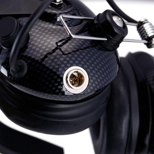 Rugged Radios H42 Carbon Fiber Behind Head Two Way Headset NASCAR Racing Scanner