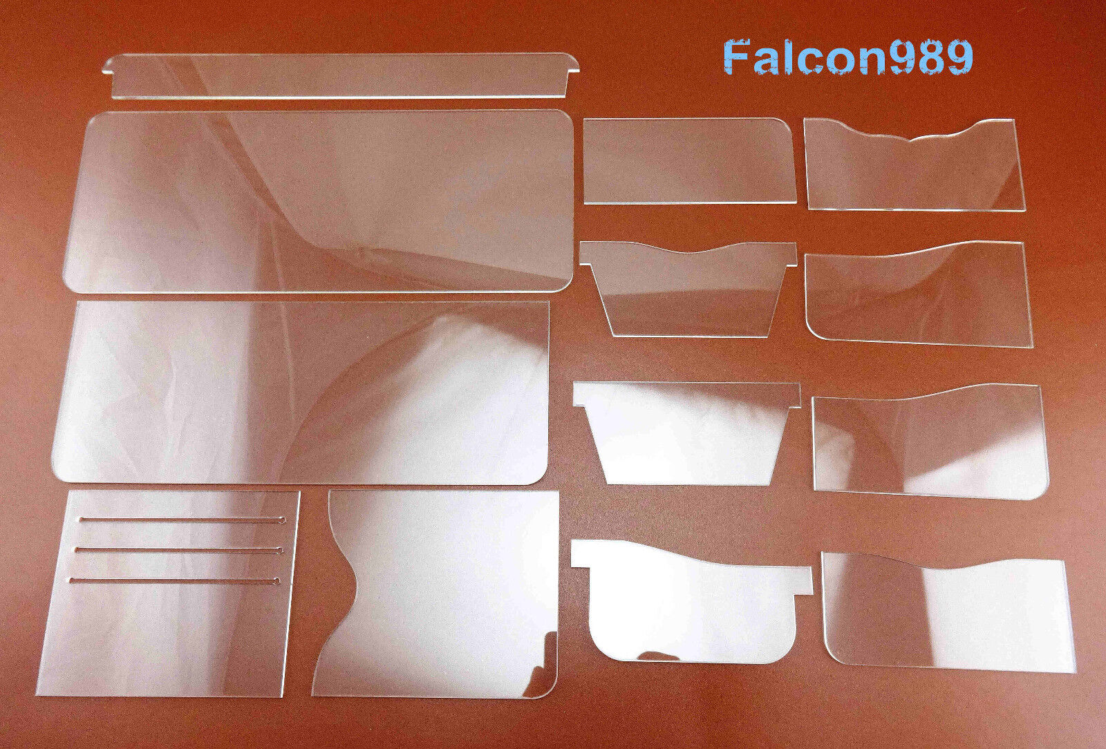 17pcs Leather Craft Acrylic Short Wallet  Pattern Stencil Template Tool Set NEW