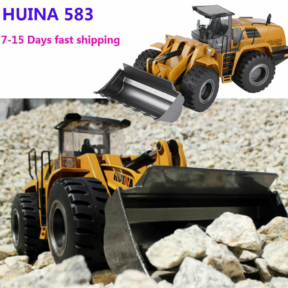 HUINA 583 1 14 Electric Remote Control  modello Bulldozer Engineering Vehicle  GD  ordina adesso