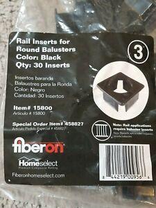 FIBERON HOMESELECT BLACK RAIL INSERTS FOR ROUND BALUSTERS ...