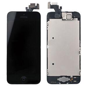 PANTALLA-DE-CRISTAL-LCD-para-Iphone-5-Negro-Placa-Boton-De-Inicio-Camara-ALTAVOZ
