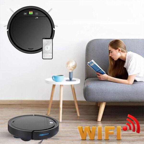 2500PA USB Smart Vacuum Robot Cleaner App Control Support for Alexa Google Tuya