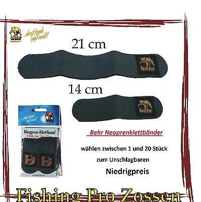 1 bis 20 Stück Behr Rutenklettband Klettband aus Neopren 21 und 14 cm Kampfpreis