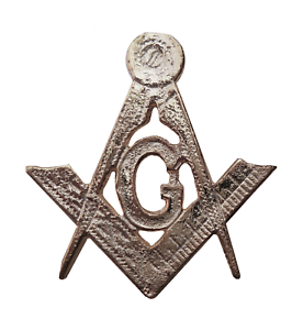 Square & Compasses with G Nickel-Plated Symbol For Orange Order Collarette