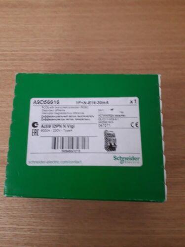 Schneider Acti9 A9D56616 1P+N B16 30mA RCBO