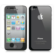 2pcs = Front + Back Full Body Clear Screen Protector Guard For iPhone 4 4G 4S
