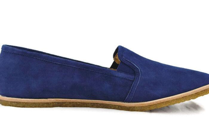 Splendid Beatrix Slip On Women's Round Toe Flat shoes,Navy Kid Suede,New,6M,0252