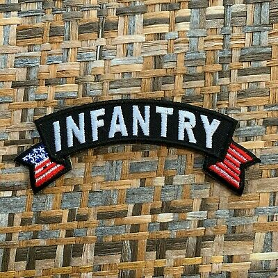 INFANTRY Small American Flag Rocker Patch
