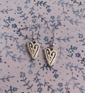 Brighton-Brazilian-HEART-Scrollwork-Silver-French-Wire-Custom-Earrings