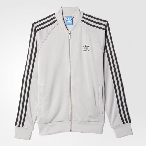603d446cc04f RARE adidas Originals Men s Slim Fit Superstar Track Top Large Gray Last 1  for sale online