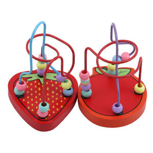 Infant-Children-Kids-Baby-Educational-Colorful-Wooden-Mini-Around-Beads-Toys-Q