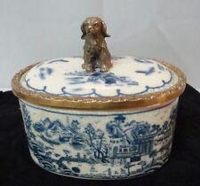 Box Jewelry Tobacco Figurine Dog Wildlife Art Deco Style Art Nouveau Style Porce
