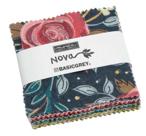 """Nova Moda Mini Charm Pack 42 100/% Cotton 2.5/"""" Precut Quilt Squares"""