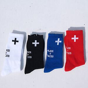 Mens-Cross-Place-Faces-Socks-Black-White-Skate-Skateboarding