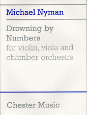 Nyman Drowning By Numbers Study Score Learn to Play Violin Viola Music Book