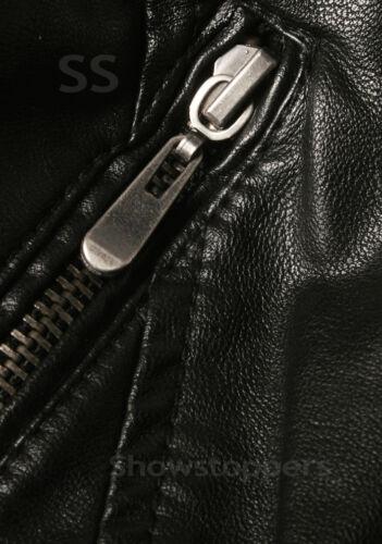 NEW Womens BIKER JACKET Crop FAUX LEATHER Ladies ZIP Coat Size 8 10 12 14
