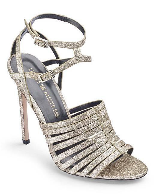 Sandalo con cinturini D Fit argentooo argentooo argentooo Taglia NUOVO con scatola da Little Mistress 99c51f
