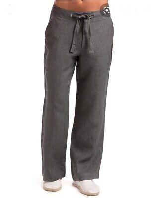 Island Company Men/'s Beachcomber Linen Pants in Gunpowder Retail $145
