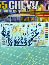 55 Chevy Drag Race Gasser Flames Decal Sheet 125 Amt Fob Search Lbr Model Parts