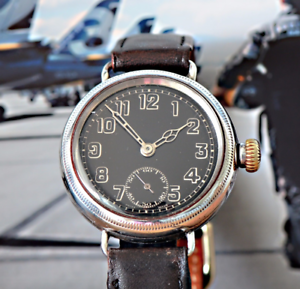 Details about Simply Beautiful Black Dialled 1914 Zenith Trench Watch THE  PERFECT TRENCH WATCH