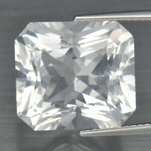 12.12 Carats NATURAL White QUARTZ  Radiant Cut 14.5x13.2mm for Setting  Africa