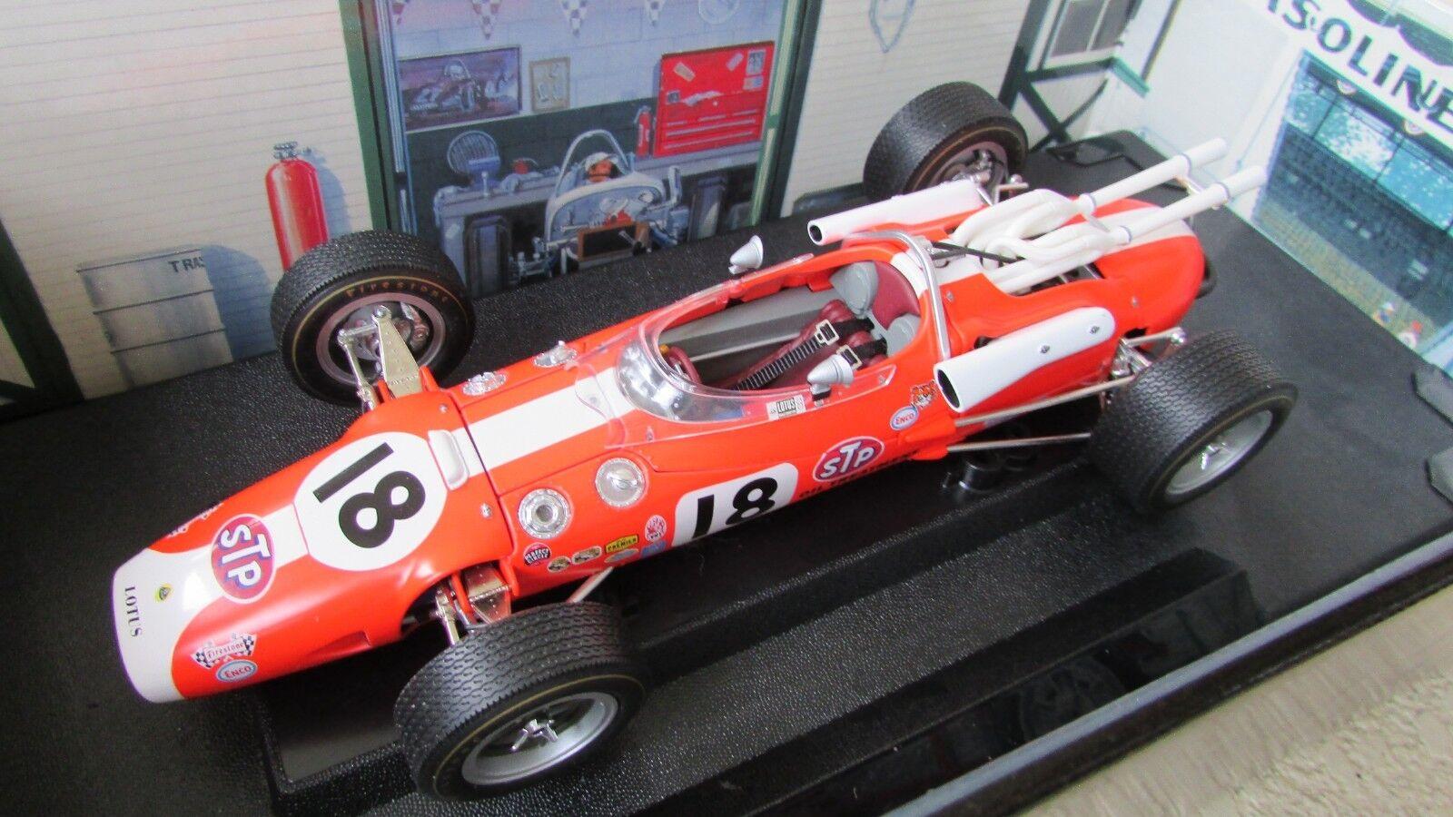 Al Unser Race Car Carousel 1 1966 Chapman Lotus 38 Ford Indy 500 4 veces ganadoras