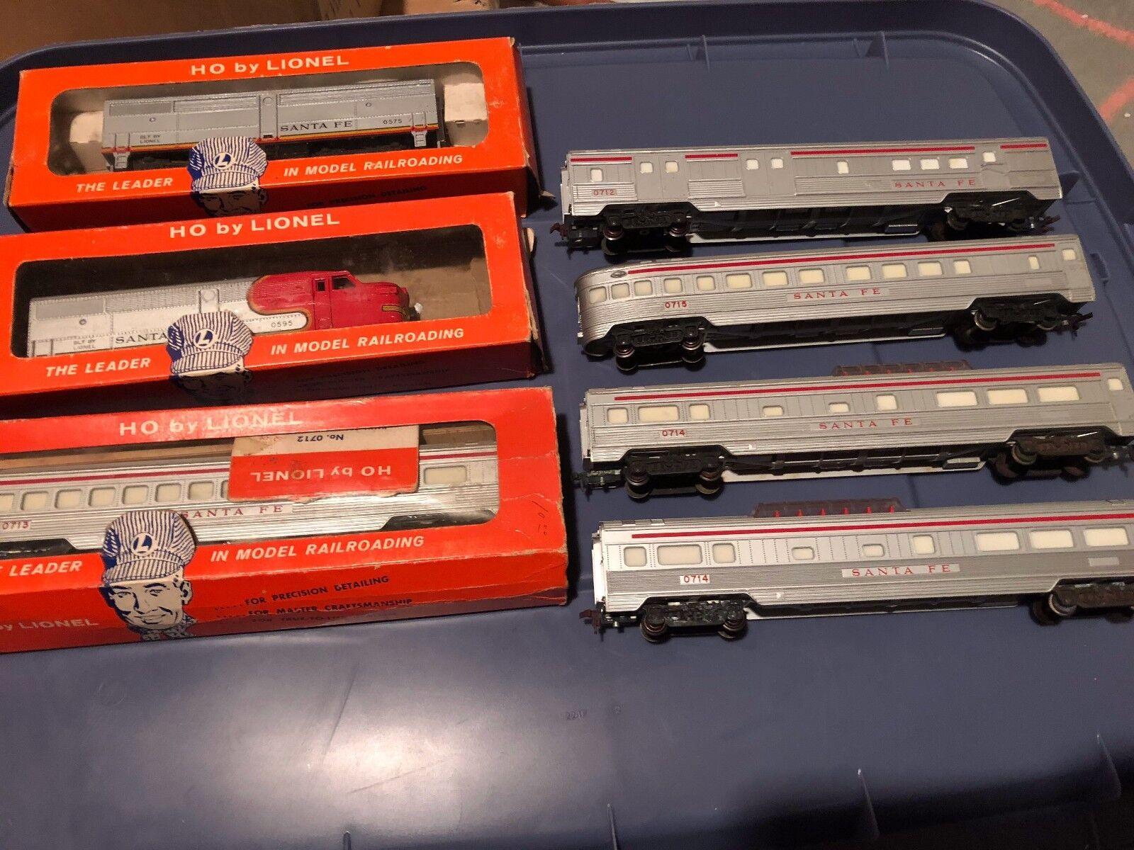Lionel - skala 7pc santa fe setzt autos + 2 pseudo - motoren original kisten selten
