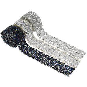 1-Yard-Rhinestone-Crystal-Beaded-Iron-On-Trimming-Sewing-for-Wedding-Dress-Bling