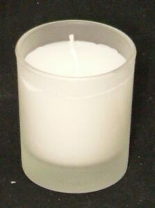108-Frosted-6cm-Glass-Wedding-Ceremony-Votive-Candle-Holder-White-Wax-Set-Candle