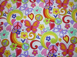 FQ-HIPPIE-PEACE-BUTTERFLIES-FLOWERS-FABRIC-RETRO