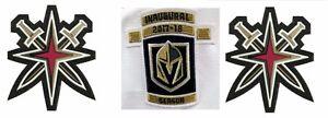 Vegas-Knights-Camiseta-Parche-Set-Inaugural-Temporada-amp-2-Secundario-Playoff