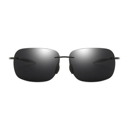 DUBERY Men Rimless Square Sunglasses Outdoor Driving Fishing Sport Glasses New