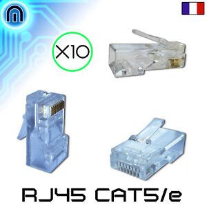 Lot De 10 Prises Rj45 (connecteurs Reseau ,embouts, Ethernet, Fiches) A Sertir Iu12hcvu-07163529-763367712