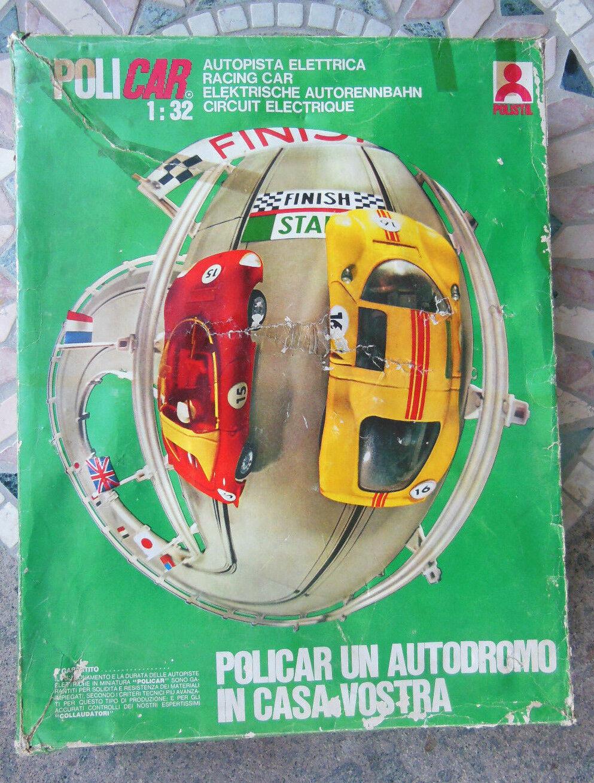 Policar A2 A2 A2 auto pista elettrica Racing Car 1:32 Funzionante Polistil 1973 ec62b2