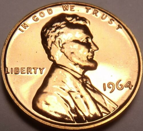 United States Proof 1964 Cent~Fantastic~Free Shipping~See Our Proof Coins~