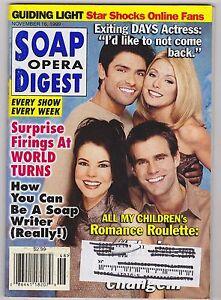 NOV 16 1999 - SOAP OPERA DIGEST vintage soap opera magazine