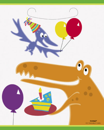 DINO PARTY 8 X PARTY BAGS DINOSAUR PARTY LOOT BAGS