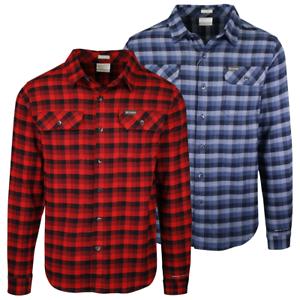 Columbia Men/'s Omni-Wick Flare Gun Stretch Plaid L//S Flannel Shirt 464