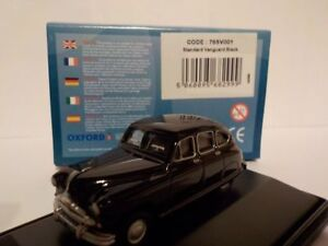 Standard-Vanguard-Black-Model-Cars-Oxford-Diecast