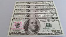 Very Rare Bank Teller Training Notes 100 Hundred Dollar Bill  $500