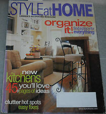 Style at Home Magazine September 2003 Organize It! Find A Space For Everything