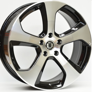 GT1-2-18X7-5-WHEELS-TO-FIT-VW-GOLF-18-INCH-WHEELS-ONLY-MACHINED-BLACK
