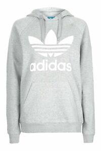 Détails sur Adidas Originals Hommes Polaire Trefoil Sweat à capuche Sweat à Capuche Pull Gris Blanc afficher le titre d'origine