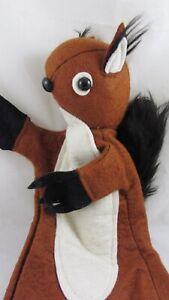Gant de feutre vintage en forme d'écharpe de marionnette de l'Ouest, taille adulte à collectionner