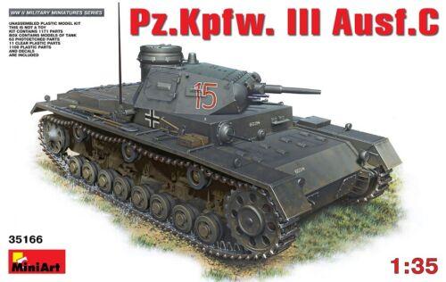 Pzkpfw Neu C III Ausf Miniart 35166-1//35 WWII Dt