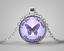 La fibromyalgie sensibilisation cabochon verre Tibet pendentif en argent chaîne Collier #EB12