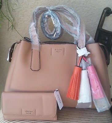 portefeuille guess trudy tote tan