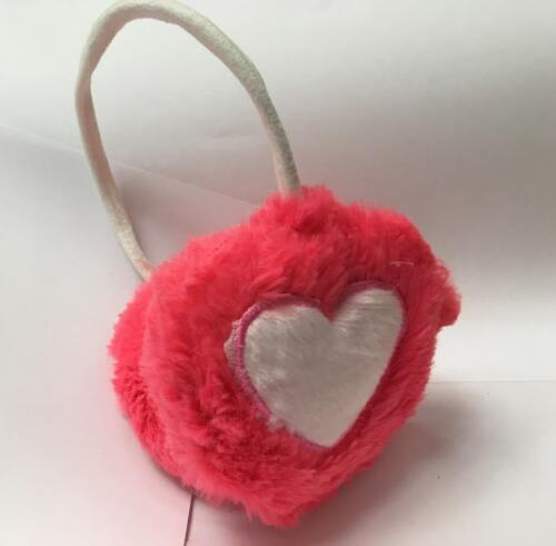 Heart-shaped Fluffy Warm Earmuffs Cute Kids Women Fashionable Winter Accessories